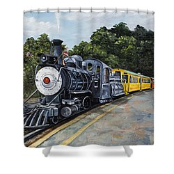 Sugar Cane Train Shower Curtain