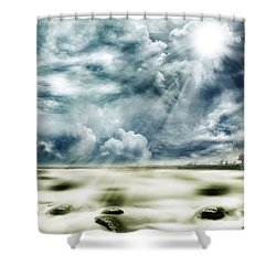 Sunlight Shower Curtain by Les Cunliffe