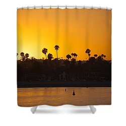Sunset Santa Barbara Shower Curtain by Ralf Kaiser
