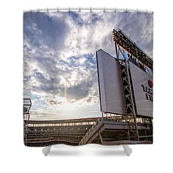 Target Field Sunset Shower Curtain