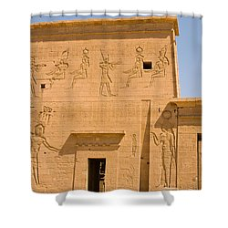 Temple Wall Art Shower Curtain