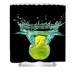 Tennis Ball Shower Curtain by Peter Lakomy