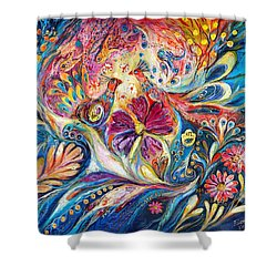 The Flowers Of Sea Shower Curtain by Elena Kotliarker