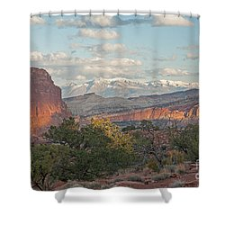The Goosenecks Capitol Reef National Park Shower Curtain