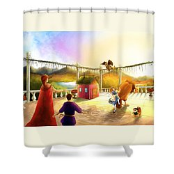 The Palace Balcony Shower Curtain