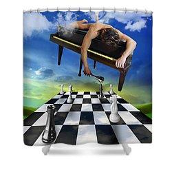 The Piano Shower Curtain by Mark Ashkenazi