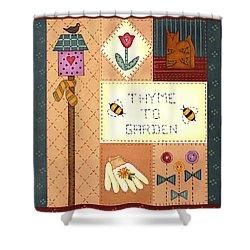 Thyme To Garden Shower Curtain