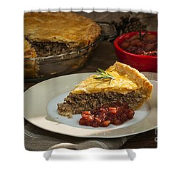 Tourtiere Meat Pie Shower Curtain by Elena Elisseeva