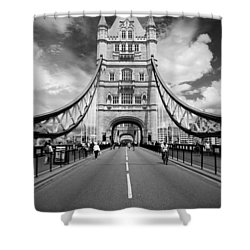 Shower Curtain featuring the photograph Tower Bridge In London by Chevy Fleet