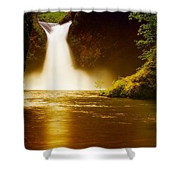 Upper Punch Bowl Falls Shower Curtain by Jeff Swan
