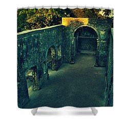 Vasai Fort Shower Curtain by Salman Ravish