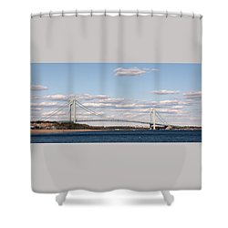 Verrazano Narrows Bridge Shower Curtain