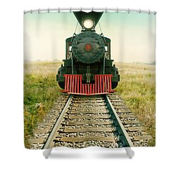 Vintage Train Engine Shower Curtain