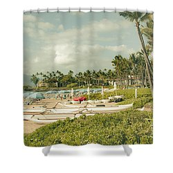 Wailea Beach Maui Hawaii Shower Curtain
