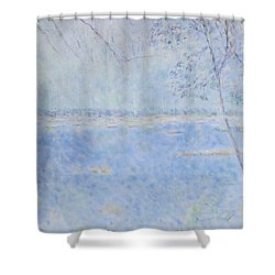 Water Of Les Iles De Lerins France Shower Curtain