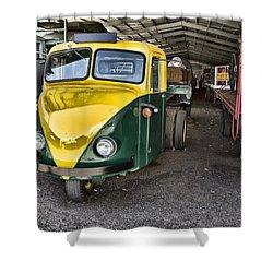 3 Wheeler Truck Shower Curtain by Douglas Barnard