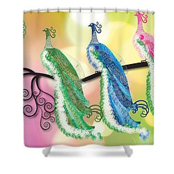 Visionary Peacocks Shower Curtain