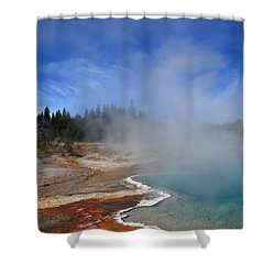Yellowstone Park Geyser Shower Curtain by Frank Romeo