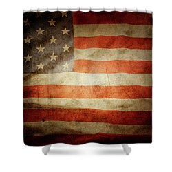 American Flag 48 Shower Curtain