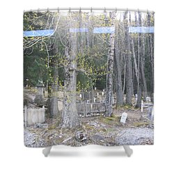 Shower Curtain featuring the photograph 300yr Cemetery by Brian Williamson