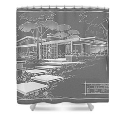 301 Cypress Drive - Charcoal Shower Curtain