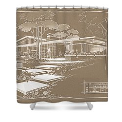 301 Cypress Drive - Sepia Shower Curtain