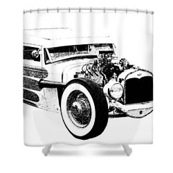 31 Model A Shower Curtain by Guy Whiteley