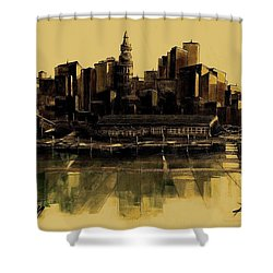 Boston Skyline Shower Curtain