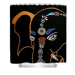 32 Gajakarna Ganesh Shower Curtain