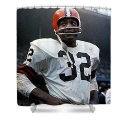#32 Jim Brown Shower Curtain