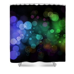 Colour In The Night Shower Curtain