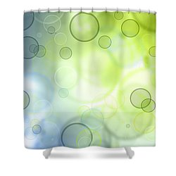 Abstract Circles 44 Shower Curtain