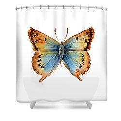 33 Opal Copper Butterfly Shower Curtain by Amy Kirkpatrick