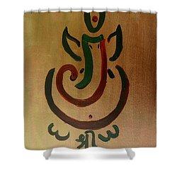 33 Rakta Ganesh Shower Curtain