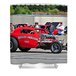 Shower Curtain featuring the photograph 330 Nationals by Mike Martin