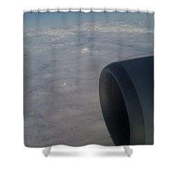 33000 Feet Shower Curtain