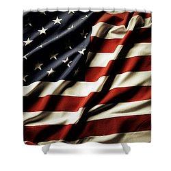 American Flag 61 Shower Curtain