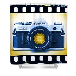 35mm Blues Canon Ae-1 Shower Curtain by Mike McGlothlen