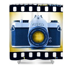 35mm Blues Pentax Spotmatic Shower Curtain by Mike McGlothlen