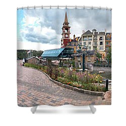 360 View Panorama, Mont-tremblant Shower Curtain by Henry Lin