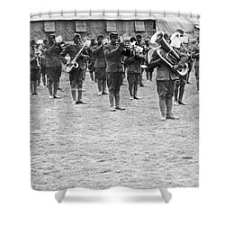 369th Infantry Regiment Band Shower Curtain by Underwood Archives