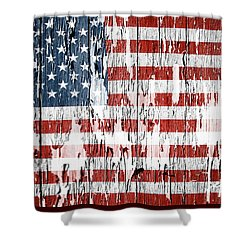 American Flag 49 Shower Curtain