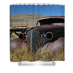 '37 Chevy In Bodie Shower Curtain