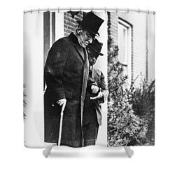 Shower Curtain featuring the photograph Woodrow Wilson (1856-1924) by Granger