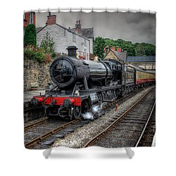 3802 At Llangollen Station Shower Curtain by Adrian Evans