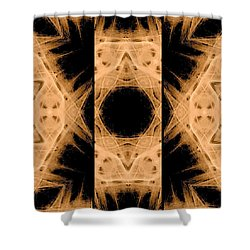 3d Abstract Fractal Shower Curtain by Maggie Vlazny