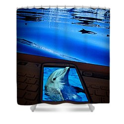 3d Phone... Shower Curtain