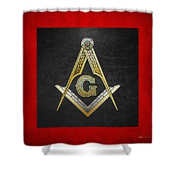 3rd Degree Mason - Master Mason Masonic Jewel  Shower Curtain