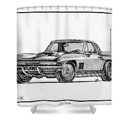 1967 Corvette Shower Curtain