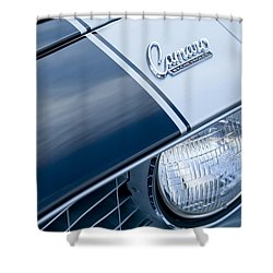 1969 Chevrolet Camaro Z-28 Emblem Shower Curtain by Jill Reger